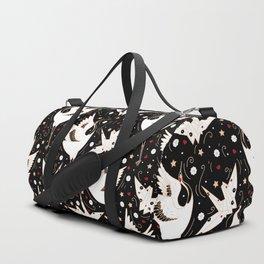 Origami Crane Metamorphosis (Noir) Duffle Bag