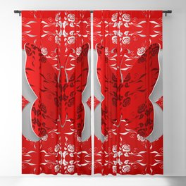 Abstract butterfly cutout Blackout Curtain