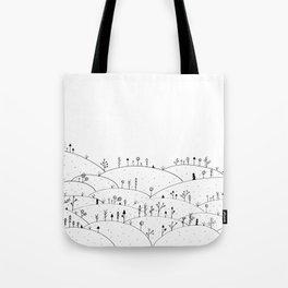 Landscape Doodle Art Tote Bag