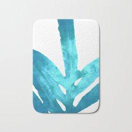Ocean Blue Fern Bath Mat