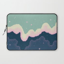 Pixel Day and Night Galaxy Laptop Sleeve