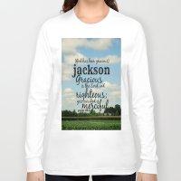 percy jackson Long Sleeve T-shirts featuring Jackson by KimberosePhotography