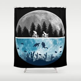 Close Encounters of the Moon Shower Curtain
