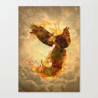 phoenix Canvas Prints featuring Phoenix by Barruf