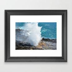 Spouting Horn in Kauai, Hawaii Framed Art Print