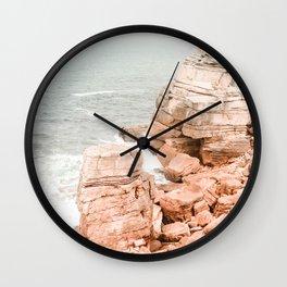Rocky coastline Wall Clock