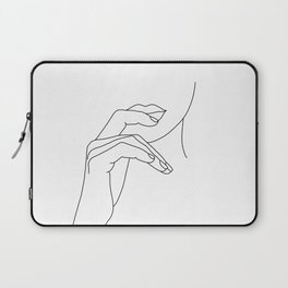 Hands line drawing illustration - Grace Laptop Sleeve