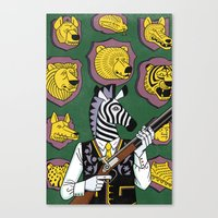 hunter Canvas Prints featuring Hunter by Studio-Takeuma