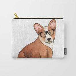 Hipster Corgi Carry-All Pouch