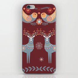 Nordic Winter Red iPhone Skin