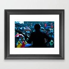 rainy concert Framed Art Print