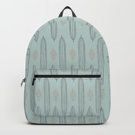 Calming blue pattern with leaves Backpack