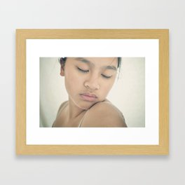 only if for a night Framed Art Print