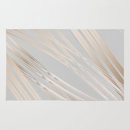 Gradient and Lines Rug
