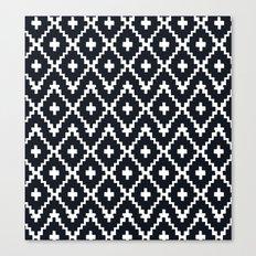 southwest diamonds _ black on white Canvas Print