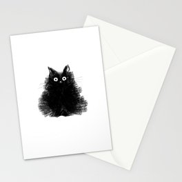 Duster - Black Cat Drawing Stationery Cards