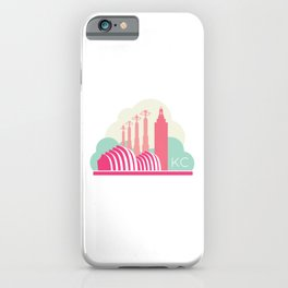 Kansas City in the Clouds - Pink iPhone Case