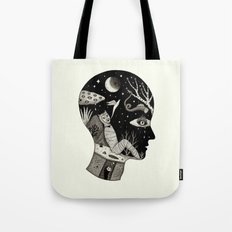 Distorted Recollection of a Dream About Death Tote Bag