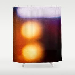 Abstract Composition In The Neon Light Shower Curtain