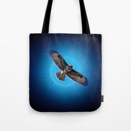 Bird of prey in the moonlight Tote Bag