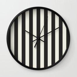 Love stripes (black & cream) Wall Clock