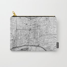 Vintage Map of Philadelphia Pennsylvania (1860) BW Carry-All Pouch