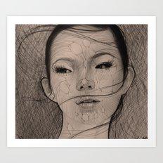 Stringy Girl Art Print