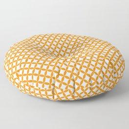 Orange Overlapping Circles Background Pattern Floor Pillow