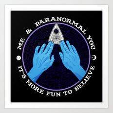 Me & Paranormal You - James Roper Design - Ouija (white lettering) Art Print