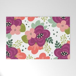 Blooming Florals Welcome Mat