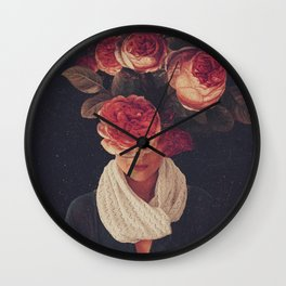 The smile of Roses Wall Clock
