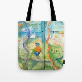 Song for Rainbow Parrot Tote Bag