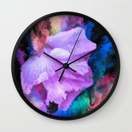 Floral Rainbow Wall Clock