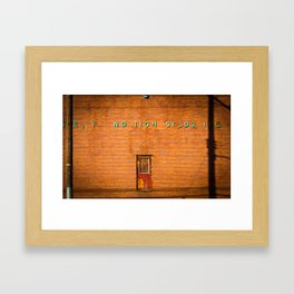 Floating Door Framed Art Print