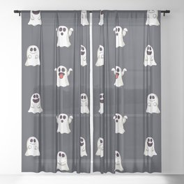 Ghost Pattern Sheer Curtain