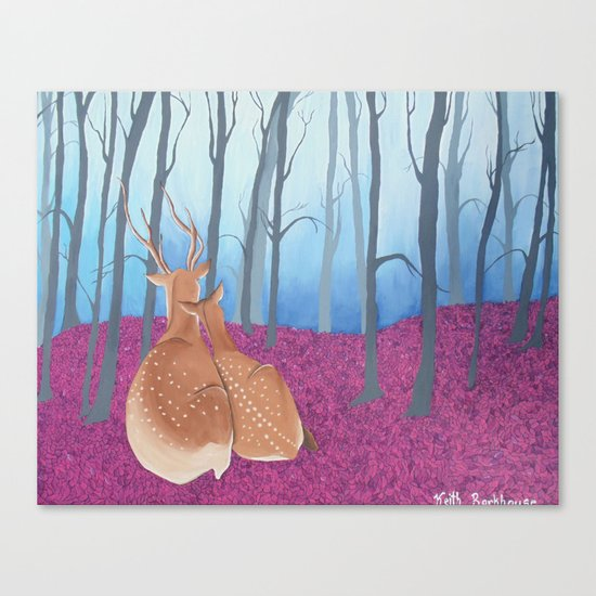 Magenta Forest Canvas Print