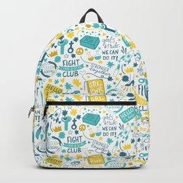 Fight like a girl sisterhood Backpack