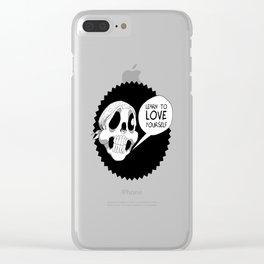 Skull Bandana Clear iPhone Case