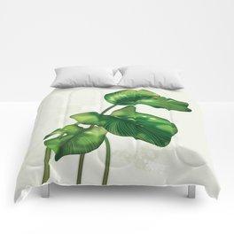Big leaves and Ladybird Comforters