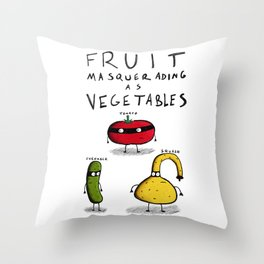 Fruit Masquerading as Vegetables Throw Pillow