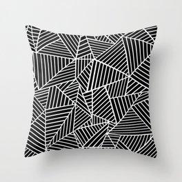 Ab Lines Black on White Throw Pillow