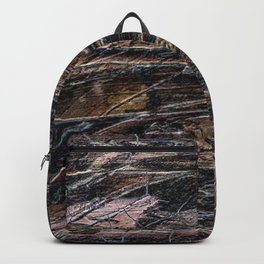 Rustic Cracked Paint Acrylic Abstract Backpack