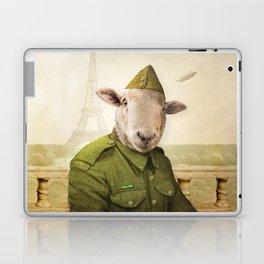 Private Leonard Lamb visits Paris Laptop & iPad Skin