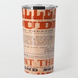Vintage poster - Challenge Houdini Travel Mug