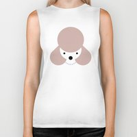 poodle Biker Tanks featuring Pedigree: Poodle by Wise Idea