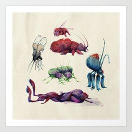 Iridescent Bugs - Set A Art Print