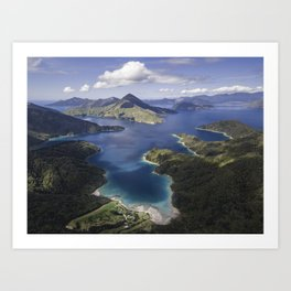 Solitude in the Marlborough Sounds, New Zealand Art Print