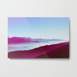 Foggy Mountains Metal Print