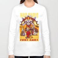 mario kart Long Sleeve T-shirts featuring Mad Mario: Fury Kart by RynoArts