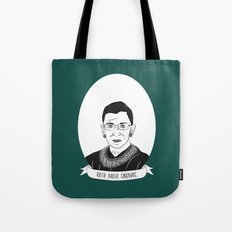 Ruth Bader Ginsburg Illustrated Portrait Tote Bag